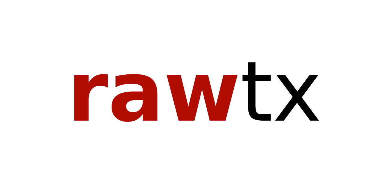 Image for rawtx library