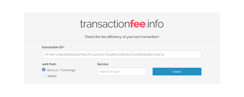 Image for transactionfee.info (2018 version)