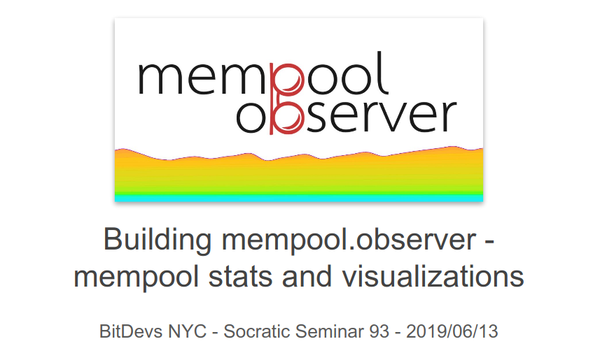 Image for Building mempool.observer - mempool stats and visualizations