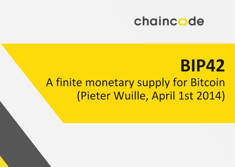 Image for BIP-42: A finite monetary supply for Bitcoin